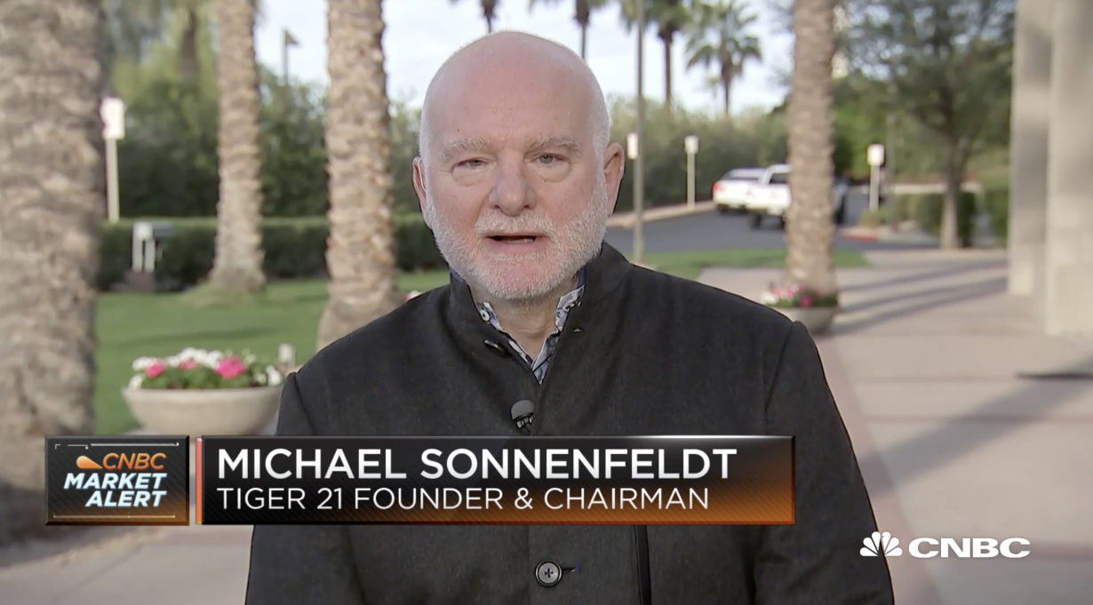 TIGER 21 ANNUAL CONFERENCE: CNBC INTERVIEW WITH TIGER 21 FOUNDER MICHAEL SONNENFELDT ON LATEST MEMBER TRENDS